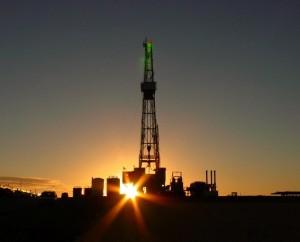 nightfall on the rig